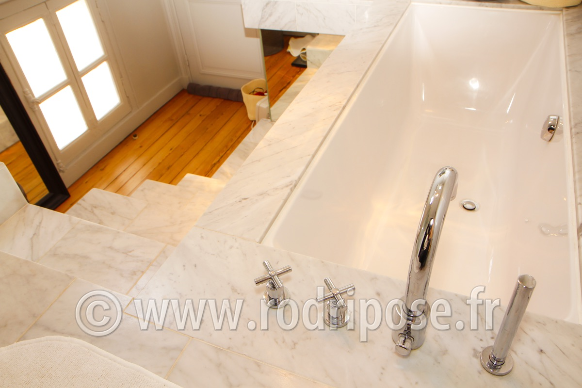 Renovation salle de bain bordeaux for Carrelage marbre granit